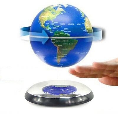 """Home High-Tech Decor 6"""" Magnetic Rotating Floating Levitating Earth Globes Blue"""