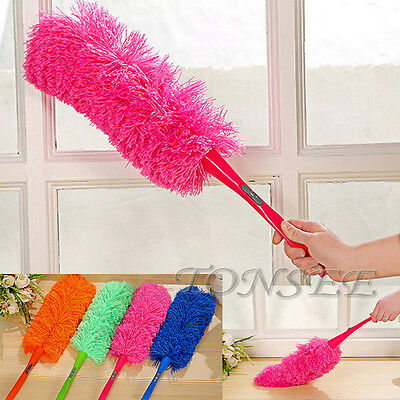 Soft Magic Microfiber Cleaning Duster Dust Cleaner Handle Feather Static Anti