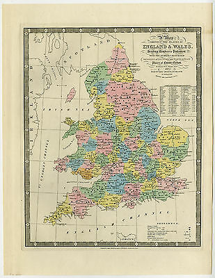 Antique Map-ENGLAND-WALES-MEMBERS OF PALIAMENT-COUNTIES-Wyld-1854