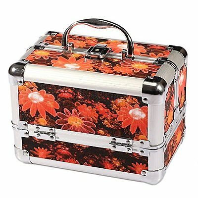Stylish Floral Cosmetic Beauty Box, Make Up Artist Vanity Nail Jewellery Case