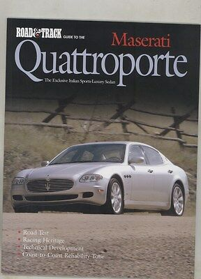 2005 Maserati Quattroporte Road & Track Guide Roadtest Book Brochure ww4309