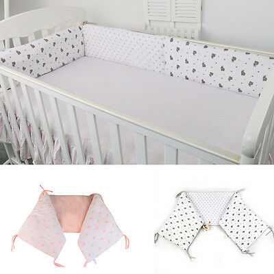 New Crib Bumper Cartoon Baby Toddler Bed Protector Security Infant Kids Cot Pad