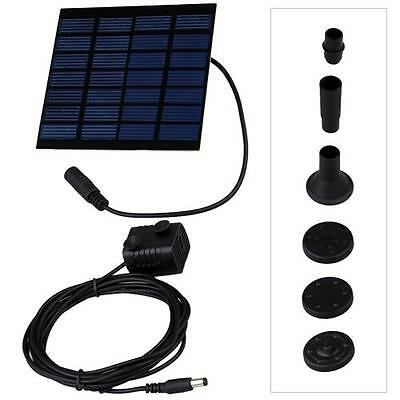 Solar Power Fountain Pool Water Pump Garden Pond Plants Watering Kit