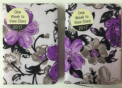 2017 Week to View Floral Watercolours Design Pocket Diary