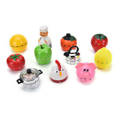 Creative Plastic Mechanical Kitchen Cooking Alarm Timer Reminder 60Minute Tools!
