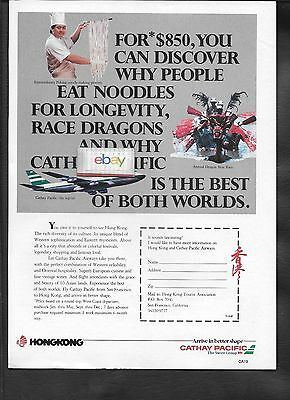 Cathay Pacific Airways Discover Why People Eat Noodles For Longevity 1987 Ad