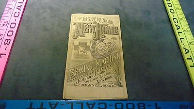 The light running new home sewing machine book vintage