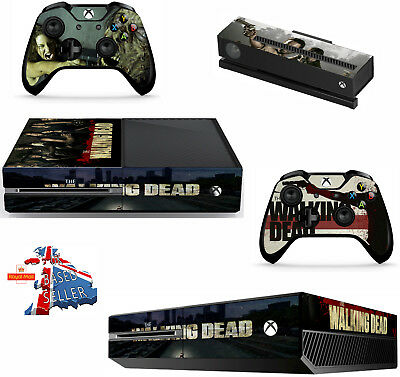 WALKING DEAD xbox one skins decals stickers  kinect 2 controllers Game