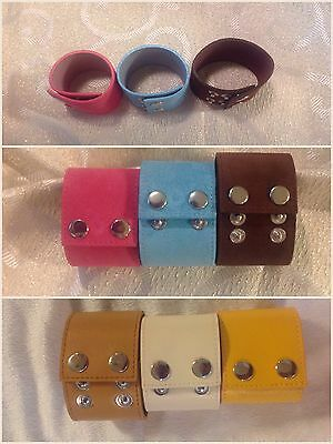 Wholesale Bulk Lot 100 Wide Leather Cuff Bracelets/Wristbands DIY Craft Jewelry