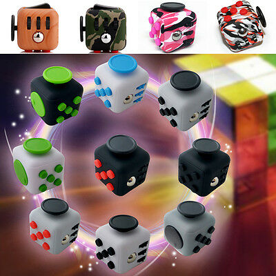 9 Colors Magic Fidget Fun Cubes Anti-anxiety Adults Stress Relief Kids Toy Gift