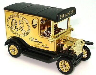 Corgi William & Kate 24Ct Gold Plated Ford Model T Van - Mint Boxed