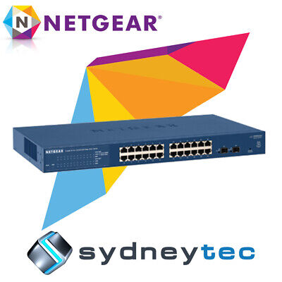New NETGEAR GS724T v4 Prosafe 24 Port Gigabit Smart Switch