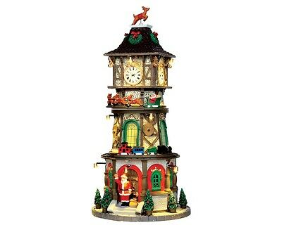 Lemax - 45735 - Christmas Clock Tower - Weihnachtsdorf, Santa´s Wonderland,