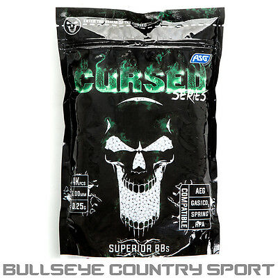 ASG Cursed Series Bb's 0.25 g 1kg 4000 Bb's White 6mm Pellets Airsoft
