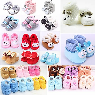 Winter Newborn Kids Baby Boy Girls Infant Cute Animal Soft Crib Shoes Warm Boots