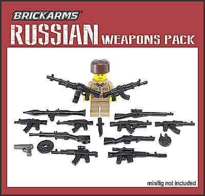 Brickarms Russians Weapons Pack Can use with Lego BNIP