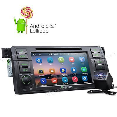 PURE Android 5.1 Car DVD Player Stereo For BMW 3 Series E46 Bluetooth NAVI CAM+A