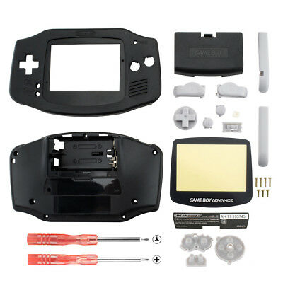 New Housing Shell Parts for Nintendo Gameboy Advance GBA Repair Solid Black