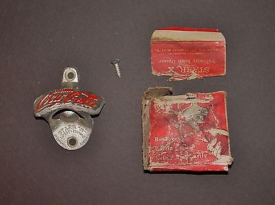Coca Cola Starr X Bottle Opener #5 Never Used in Original Box Cast Iron Coke