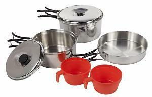 Regatta Compact Steel 2 person cookset - camping, hiking, backpacking