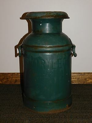 "Vintage Wwii 1942 Dairylea  20"" High  Milk Can Pail"