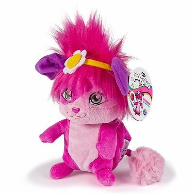 "POPPLES Bubbles 8"" Pop Open Plush Stuffed Toy Pink Spin Master NETFLIX New"