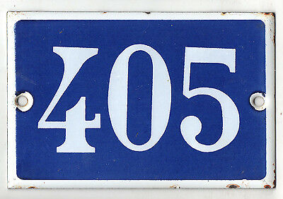 Old French house number 405 door gate plate plaque enamel steel metal sign