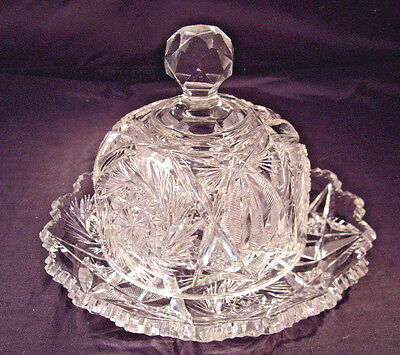 ABP American Brilliant domed covered cheese or butter dish