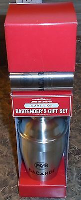 Rare Bacardi Limited Edition Superior Bartender's Gift Set New In Box