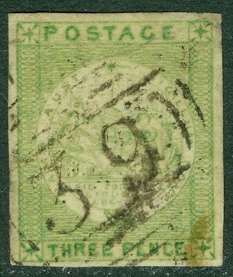 NEW SOUTH WALES : 1850-51. Scott #9a VF Used 4 large margins. APS Cert. Cat $550