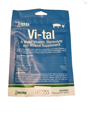 Vi-Tal Vitamin And Electrolyte Poultry Swine 6 oz