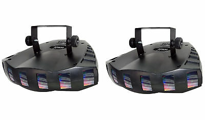 (2) Chauvet Derby X DMX-512 Multi Colored LED Light Effects, DJ Party Lighting