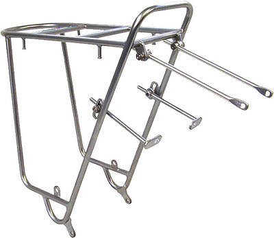 Nitto Mt-Campee Rear Mount Bicycle Rack: Silver