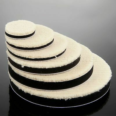 2X Woolen Car Polishing Waxing Buffing Disc Pad Kit for Care Cleaning Polisher