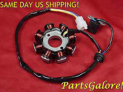 Stator DC 8 Coil / Pole 3 wire GY6 125cc 150cc Scooter ATV Trike Sand Dune Buggy