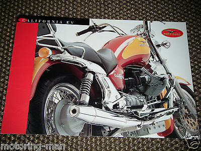 Moto Guzzi California Ev Italian English Motorcycle Sales Brochure Prospekt