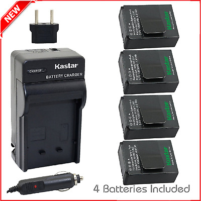 Kastar GOPRO3 Battery 4-Pack and Charger Kit for GoPro HD HERO3, HERO3+ AHDBT-30