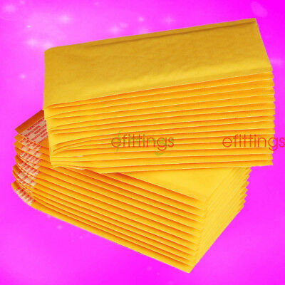 Wholesale Kraft Bubble Mailers Padded Envelopes Shipping Bags Self Seal 10/100x