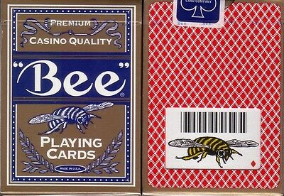 2 Ohio BEE Premium Casino Bumble Bee Poker Size Playing Cards Decks in Gold Box!