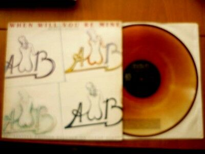 """Average White Band""...'When Will You Be mine'...12"" on Clear Vinyl...UK...1979."