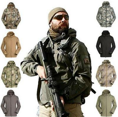 Waterproof Hooded US Army Military Camping Hiking Airsoft TAD Shark Skin Jacket