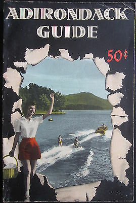 Adirondack Vacationland Guide Book 1953 Nice 290 Pages