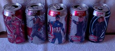 Dr Pepper Avengers Age of Ultron #2-6 Soda Can Empty 12oz