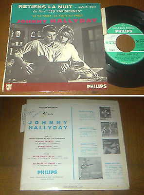 RARE French EP 45t BIEM (7') JOHNNY HALLYDAY (Lang 1962)