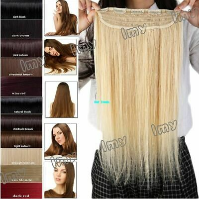 "One Piece 100% Real Clip In Remy Human Hair Extensions 18"" 20"" 3/4Full Head QU22"
