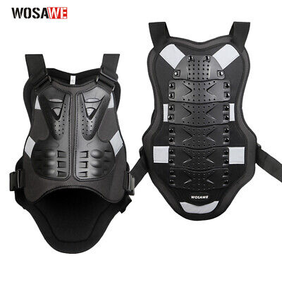 2017 Men's Motorcycle Body Armor Vest Jacket Spine Chest Protection Riding Gear