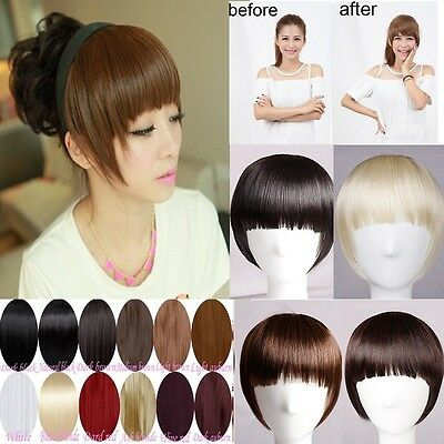 Grade A Clip on Front Thick Bangs Fringe Clip in Hair Extensions For Human HL8