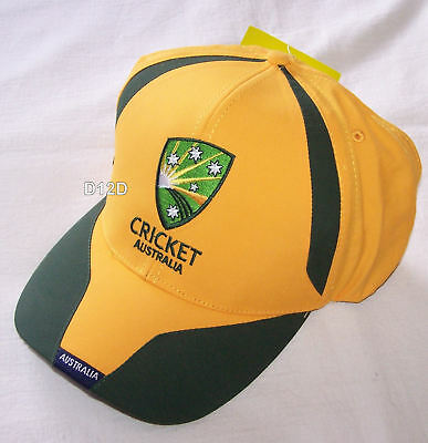 Cricket Australia Logo Mens Gold Embroidered Cap New