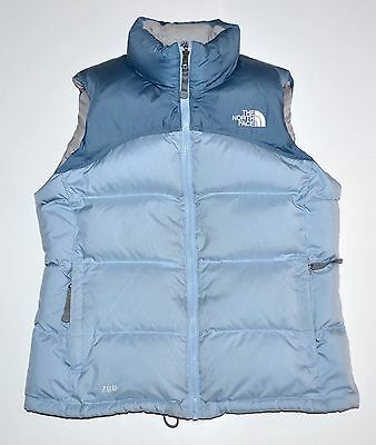 North Face 700 Fill Women's S/P Small Two tone Blue Goose Down Puffer Vest