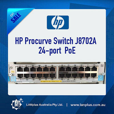 HP Procurve Switch J8702A 24-port Gigabit POE Module 10/100/1000 PoE 5406zl 5412